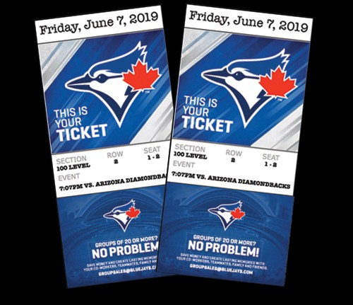 Toronto Blue Jays Tickets prize from KeyMasters Escape Rooms in Hamilton